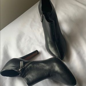 Black Leather Anke Boots